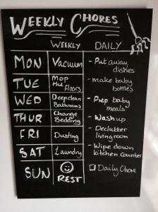 Weekly chore